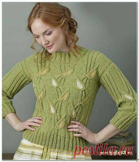 Шикарный пуловер гладиолусы - Perchinka 63