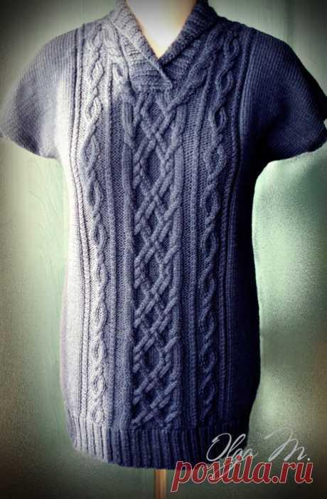 Вязание спицами. БЕЗРУКАВКА С АРАНАМИ.: lvica_a — ЖЖ