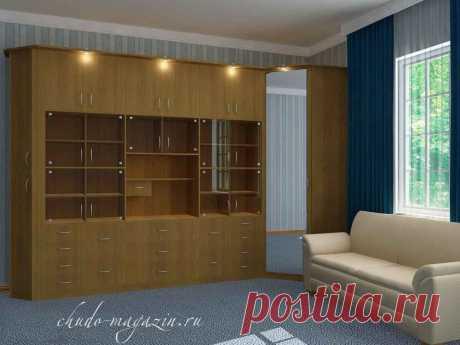 Модульная стенка с угловым шкафом для гостиной: фото, заказ, модель, доставка
