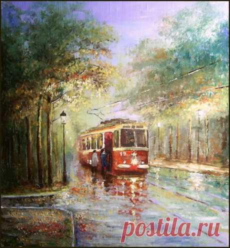 Художник Андрей Доманин. Даже зима, на его картинах, снежная, тихая и уютная
