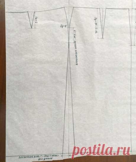 Мастер-класс по раскрою прямой юбки со шлицей