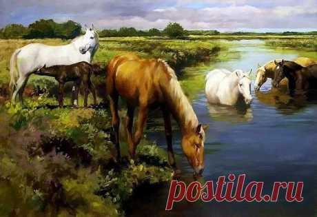 My horses, horses \/ Knitting as art!