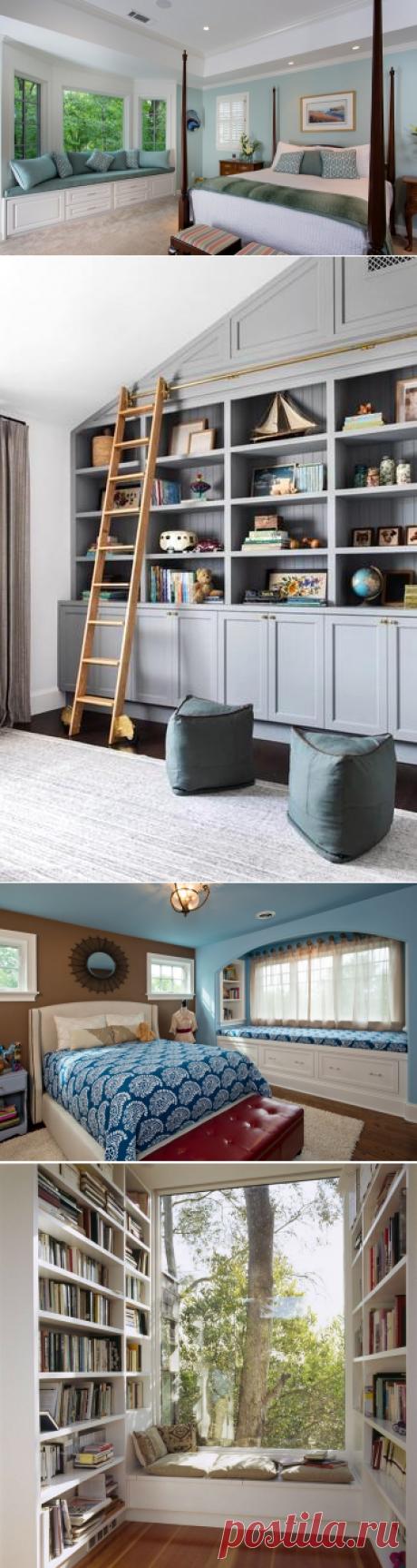 20 примеров комфортных мест у окна, которые сэкономят место в интерьере