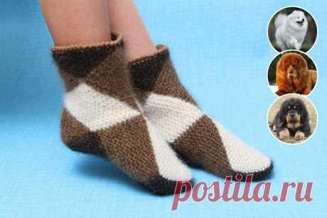 Интересная техника вязания теплых носочков из квадратов — DIYIdeas