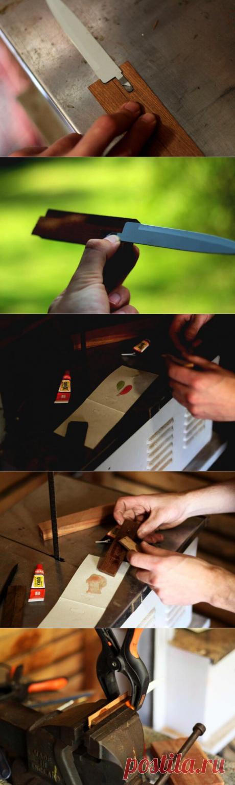 Как восстановить нож, если отломалась ручка | В темпі життя