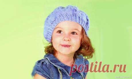 Мастер-класс «Берет, связанный от резинки» | Вязание спицами для детей Обхват головы- 48-50 см