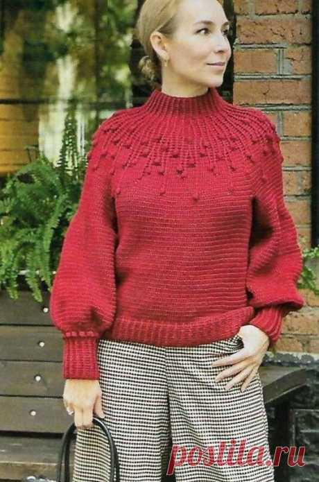 "Пуловер Жаклин. Пуловер ""Роза"""