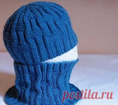 Стильные шапочка и снуд спицами из категории Интересные идеи – Вязаные идеи, идеи для вязания