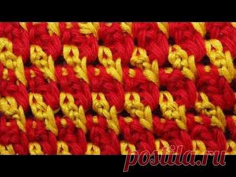 Узоры для вязания крючком видео Tunisian crochet  31