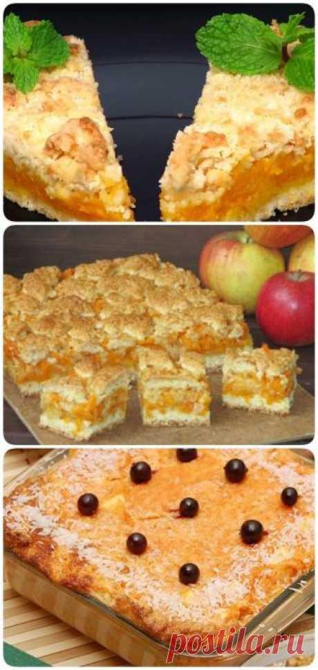 Насыпной тыквенный пирог с апельсиновым ароматом – это бомба - interesno.win