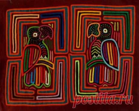 Kuna Indian Hand-Stitched Parrot Birdcage MoIa II-Panama 18091410L | eBay