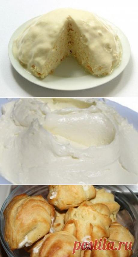 Несколько вариантов творожного крема.