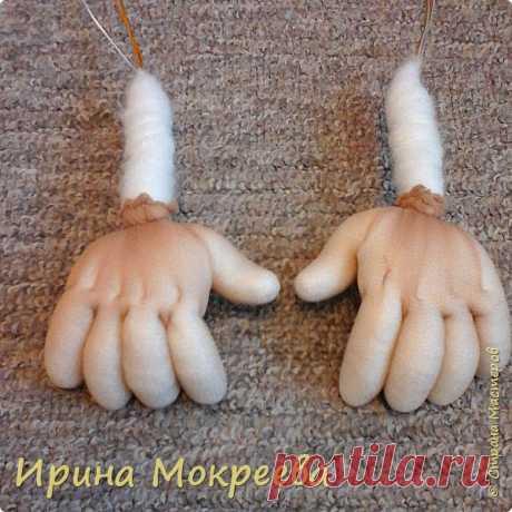 Как я делаю ручки капроновым куклам ( 1 часть)