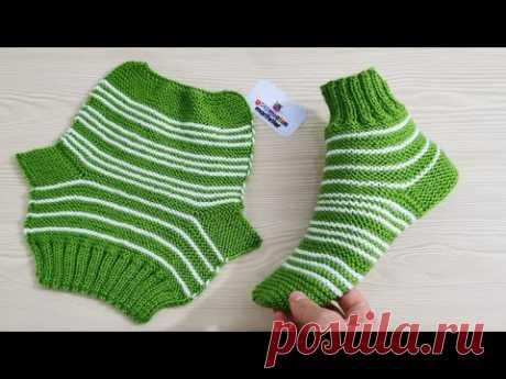 Легкие вязаные женские носки модели пинетки с двумя шампурами