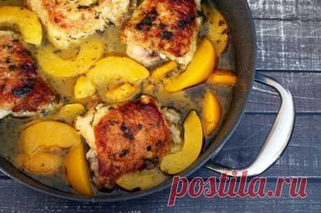 Курица с персиками — Sloosh – кулинарные рецепты