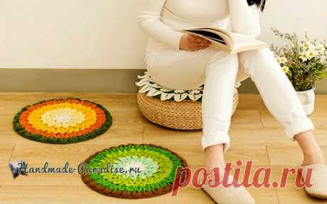 """Как хорошо уметь вязать: Crochet Pillow """"Lotus"""" + Diagrams"""
