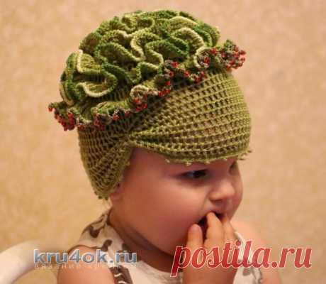 Мастер - класс по вязанию крючком шапочки для девочки - вязание крючком на kru4ok.ru