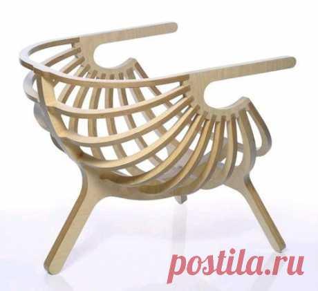 Креативное кресло своими руками из фанеры