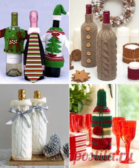 Бутылки: оригинальная упаковка к новому году — DIYIdeas