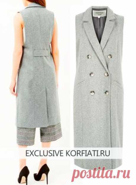 El patrón del abrigo sin mangas de Anastasia Korfiati