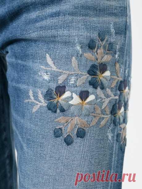 Идеи вышивки по джинсовой ткани