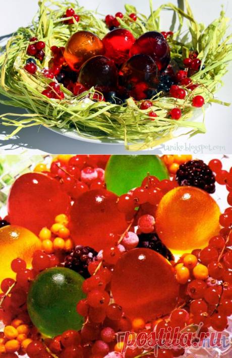 """Желе """"Птичье гнездо"""". Оригинальный десерт и замечательное украшение пасхального стола!"""