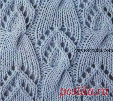 Красивый узор для пуловера  #узор_спицами@knit_needles, #узоры@knit_needles  Источник: https://shemy-vyazanie.ru/vyazanyj-pulover-spicami-zh..