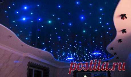 Светодиодное освещение потолка: от ленты до «звездного неба»