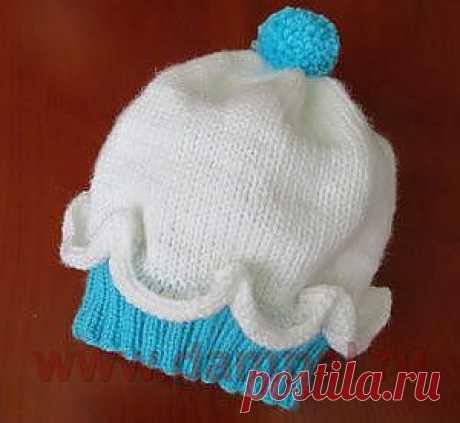 Вязаная шапочка для детей.