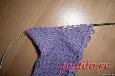 МК УКОРОЧЕННЫЕ РЯДЫ. Способы их вязания. - Шьем одежду для собак