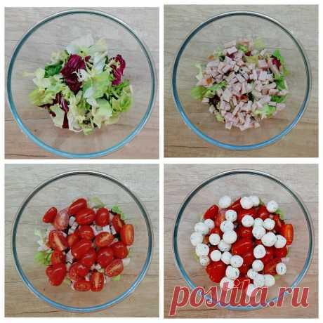 Овощной салат с сырными шариками. Пошаговый рецепт с фото. - InVkus