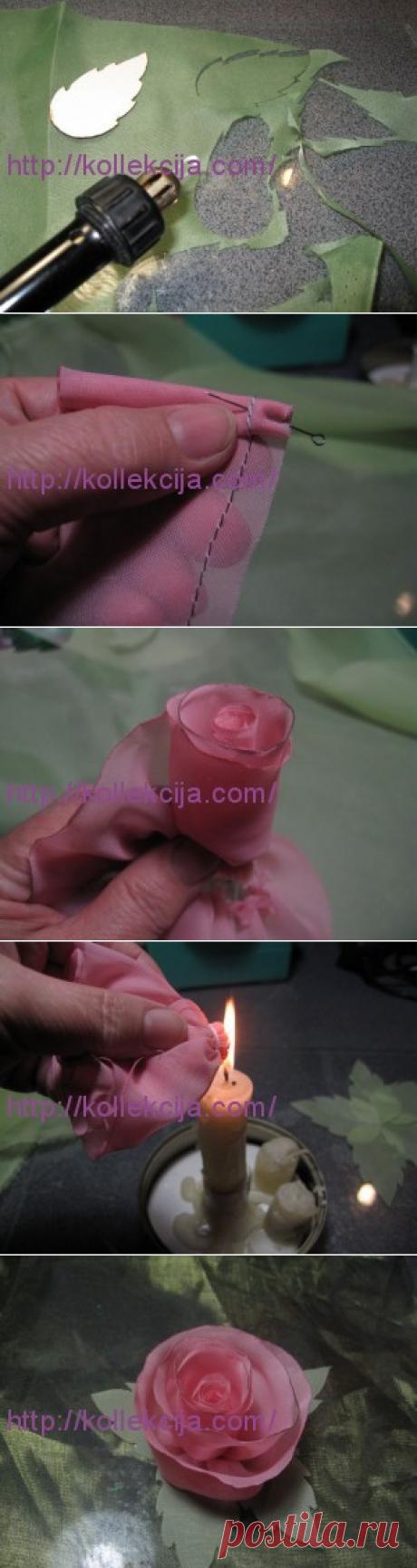 Мастер-класс «Изготовление цветов из ткани». Автор Надежда Бандурина.   Своими руками — интернет журнал