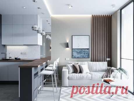 Кухня-гостиная в Москве от студии DHOME