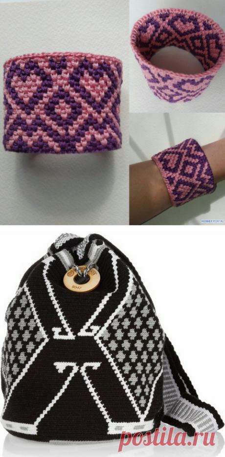 Вязание в технике тапестри (жаккард) крючком: идеи | Анна Утешева | Яндекс Дзен