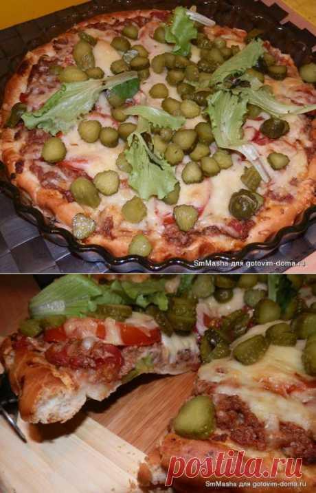 Пицца в стиле бигмак