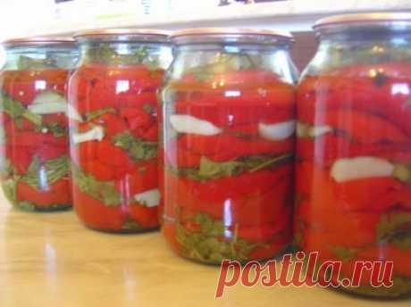 Красный перец маринованный (по-армянски) : Болгарский перец