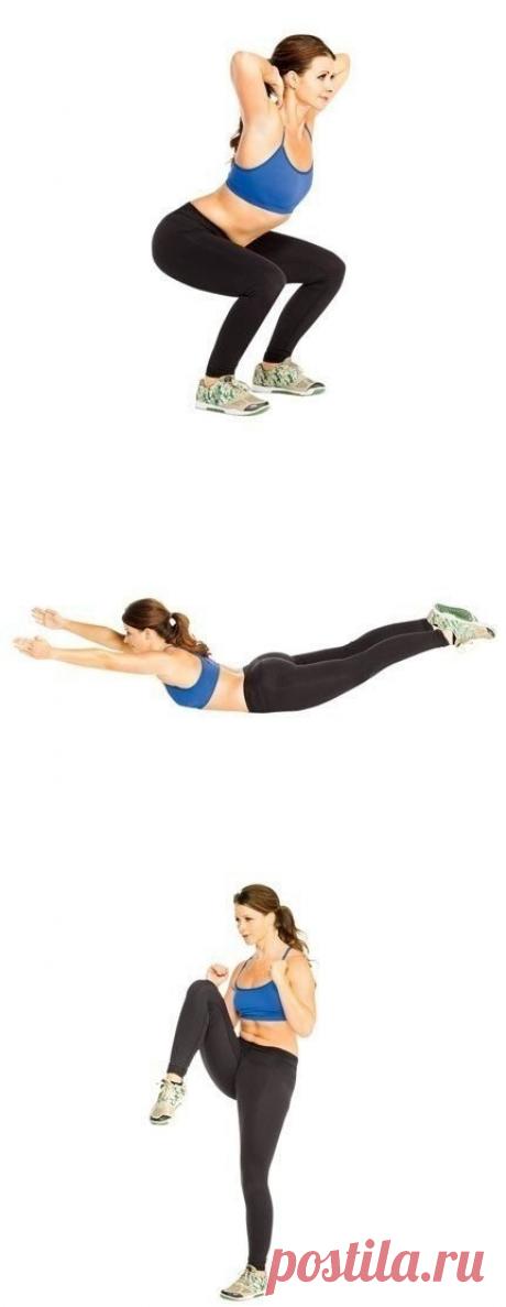 12 простых упражнений для сжигания жира