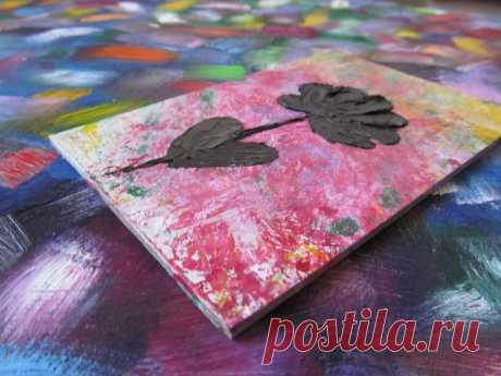 Kleine abstrakte Blume Ölgemälde Original Art Impasto Blume   Etsy