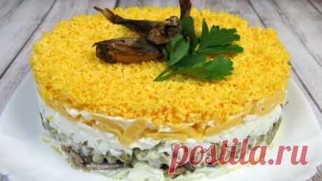 Праздничный салат со шпротами «Берта»! Потрясающий Вкус! 👍🎄
