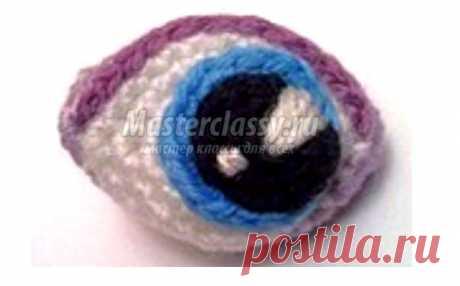 Вязаные глаза для куклы. Описание Как связать крючком глаза для куклы. Описание