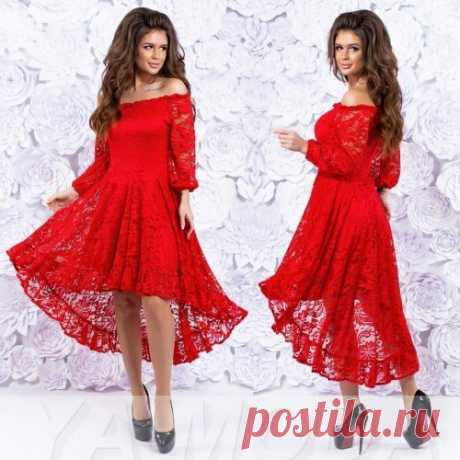 Кружевное платье Каскад
