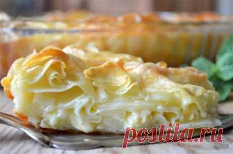 Ачма — вкуснейший слоёный пирог с нежной мякотью и хрустящей корочкой