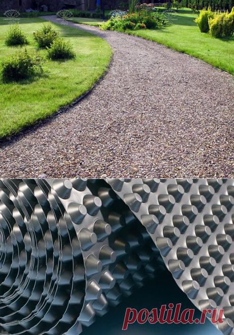 Почему в садовых дорожках вместо щебня лучше использовать дренажную мембрану: правила установки