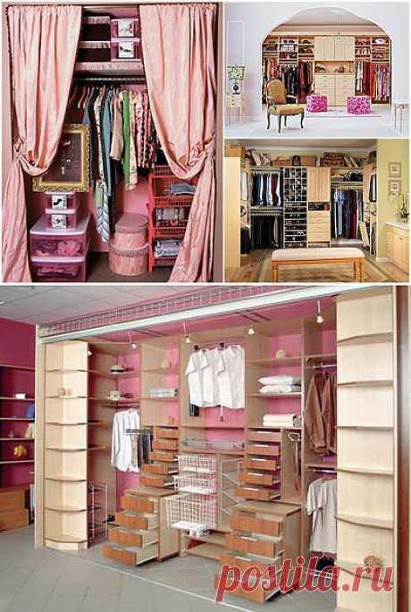 Как сделать гардеробную комнату. Выбор помещения для гардеробной комнаты. Комплектация гардеробной комнаты. | Удивительная радуга жизни