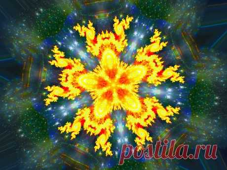 Fractal Kaleidoscope Flower  Free Stock Photo HD - Public Domain Pictures