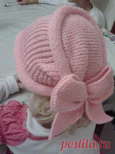 ШАПОЧКА для принцессы (Вязание спицами) — Журнал Вдохновение Рукодельницы