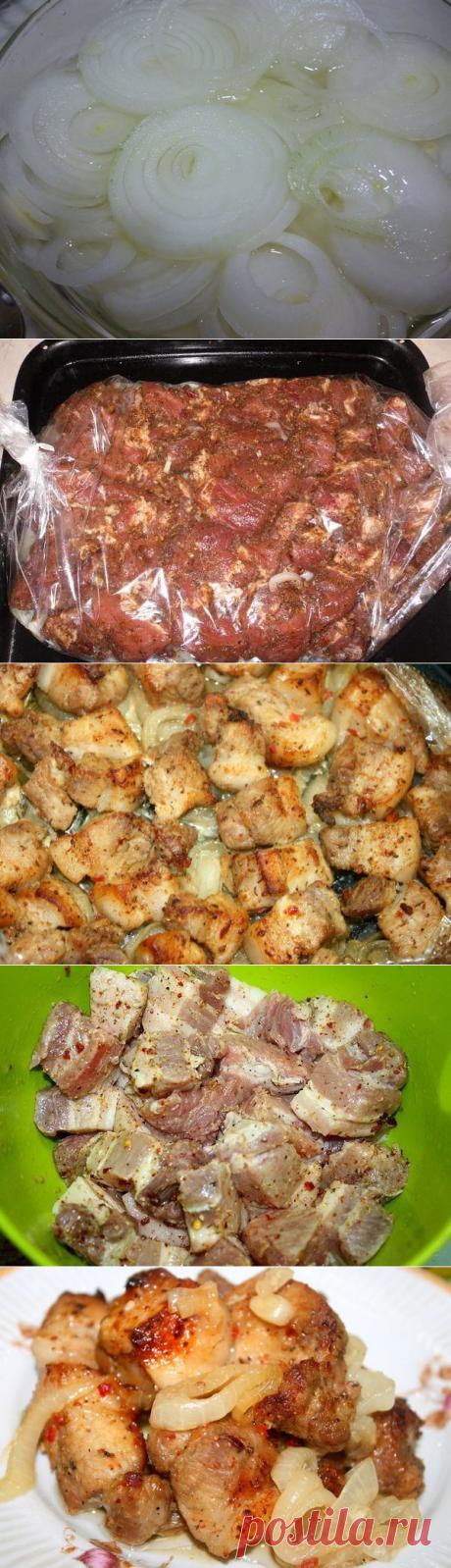 Ароматное мясо запеченное на луковой подушке, вкусное как шашлык. | Вкусно-быстро | Яндекс Дзен