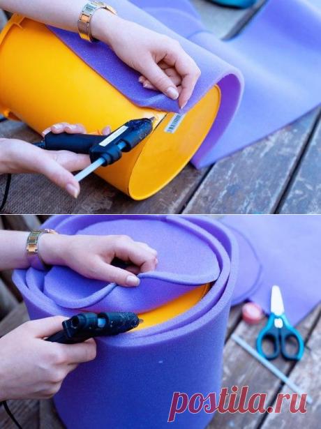 Простой пуфик для дачи своими руками — Сделай сам, идеи для творчества - DIY Ideas