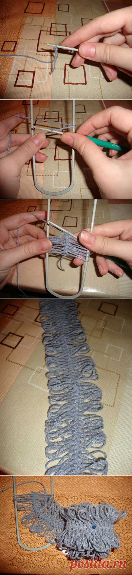 Еще немного о вязании на вилке с интнрнета.