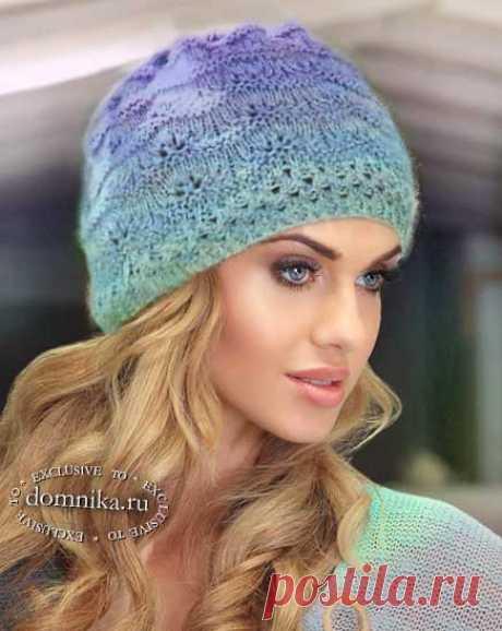Простые шапки - шапки спицами красивые модели для женщин #шапки женские
